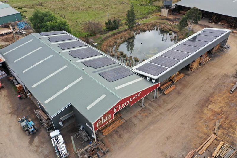 312 x 320w solar panels with 2 x 50kwh inverters have been installed on the factory roof.