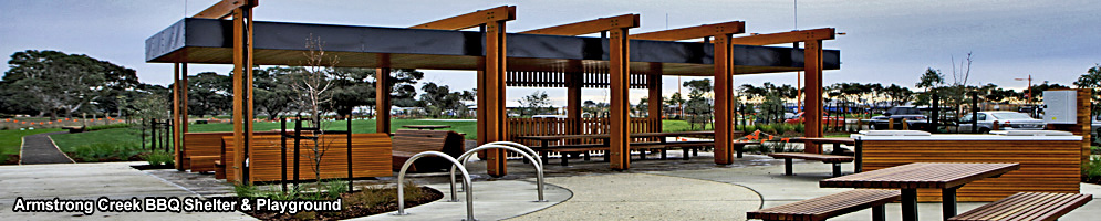 Spotted Gum BBQ Shelter and Playground - Armstrong Creek