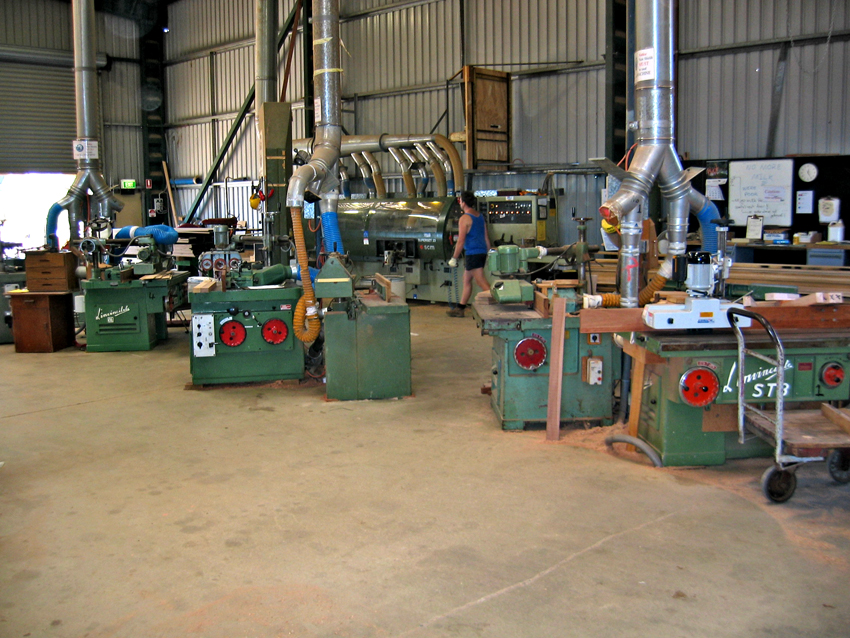Extensively equipped machine shop
