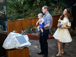 Prince William, Princess Kate & Prince George opening Bilby Exhibition