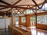 Custom made Timber Truss / Brushbox Floor