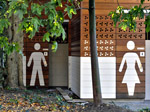 Rushcutters Bay Park Ammenities Block - Blackbutt cladding (with motif cut-outs)