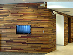 Random timber panelling - thickness, width & species