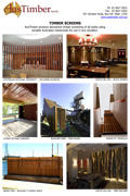 Decorative and durable hardwood timber screens for use in any situation