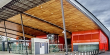 Spotted Gum Ceiling - Leppington Railway Station