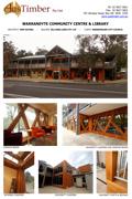 Warrandyte Community Centre - Blackbutt cladding, window beams, decking and posts
