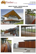 Wesley College - Spotted Gum decking